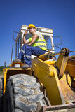 Bulldozer operator Royalty Free Stock Photo