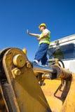 Bulldozer operator Royalty Free Stock Photo