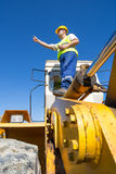 Bulldozer operator Stock Image