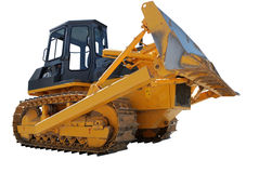 Bulldozer over white Stock Photo