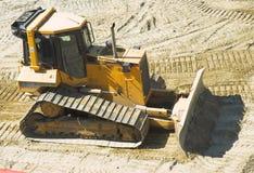 Bulldozer på konstruktionsplats Royaltyfri Fotografi