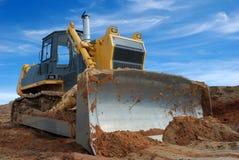 Bulldozer pesante che si leva in piedi nel sandpit Fotografia Stock Libera da Diritti