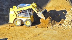 Bulldozer Pushing Sand stock video footage