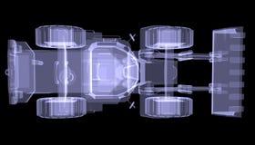 Bulldozer. Röntgenstraal Royalty-vrije Stock Fotografie