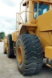 Bulldozer from rear. Yellow bulldozer from rear waiting for driver Stock Photo