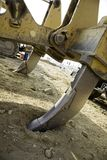 Bulldozer Ripper. Vertical image of a bulldozer's ripper tool Royalty Free Stock Photography