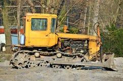 Bulldozer on road construction site Stock Image