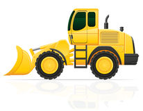 Bulldozer for road works vector illustration Stock Photos