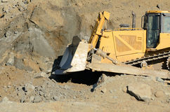 Bulldozer Rocks Royalty Free Stock Photos