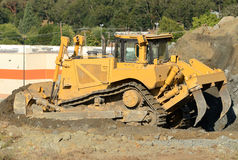 Bulldozer Rocks Stock Photo