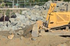 Bulldozer Rocks Stock Photos