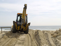 Bulldozer On Sand Royalty Free Stock Photography