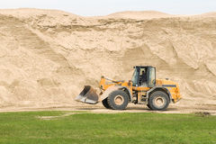 Bulldozer and sand Stock Photography