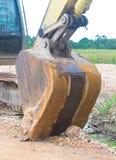 Bulldozer scavatore del secchio dell'escavatore Fotografia Stock Libera da Diritti