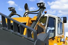 Bulldozer with scoop royalty free stock images