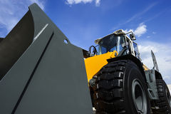 Bulldozer with scoop Royalty Free Stock Image