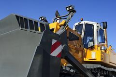 Bulldozer with scoop Royalty Free Stock Photo