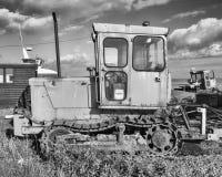 Bulldozer Sideview, Aldeburgh, Suffolk, England Royaltyfria Bilder