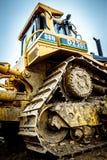 Bulldozer on site