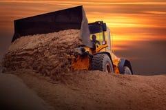 Bulldozer sul lavoro Fotografia Stock