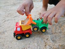 Bulldozer toy Stock Image