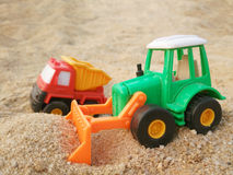Bulldozer toy Royalty Free Stock Image