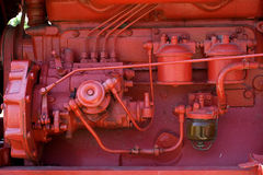 Bulldozer Tractor. Tractor for Farmer show part of Machine with oil Pump and Oil Tube Stock Images