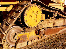 Bulldozer tractor detail. A detail of a bulldozer tractor.  Earth moving equipment Royalty Free Stock Image