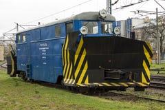 Bulldozer train Stock Images