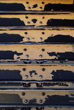 Bulldozer treads with sand. Worn bulldozer treads with sand Royalty Free Stock Photography