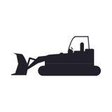 Bulldozer truck construction sign stock illustration