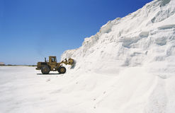 Bulldozer Truck Loading Salt Stock Photos