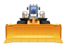 Bulldozer. Vector illustration of a bulldozer. Simple gradients only - no gradient mesh Royalty Free Stock Image