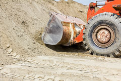 Bulldozer, view on front end loader Stock Images