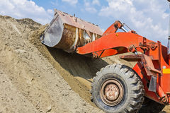 Bulldozer, view on front end loader Royalty Free Stock Images
