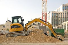 Bulldozer waiting Stock Image