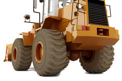 Bulldozer on wheels Royalty Free Stock Photos
