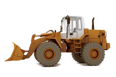 Bulldozer on wheels Royalty Free Stock Images