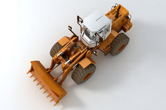 Bulldozer on wheels Royalty Free Stock Photo