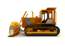 Bulldozer  on white Royalty Free Stock Photos