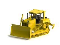 Bulldozer  on white. Heavy Equipment Bulldozer. A large earth moving machin Royalty Free Stock Photo
