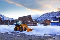 Bulldozer in winter Stock Photos