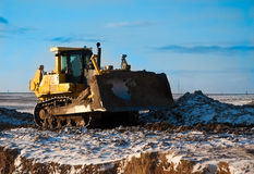 Bulldozer at work Royalty Free Stock Photos