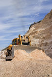 Bulldozer at work Stock Images