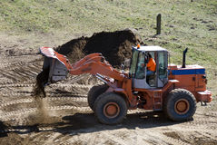 Bulldozer at work Royalty Free Stock Images
