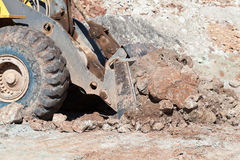 The bulldozer working In coal mines Royalty Free Stock Photo
