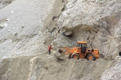 Bulldozer Working. royalty free stock photography