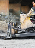 Bulldozer working Stock Images