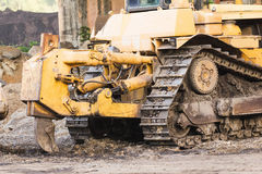 Bulldozer working Stock Photo