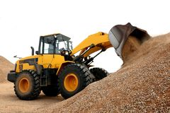 Bulldozer Working with Stone Royalty Free Stock Photography